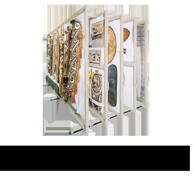 Compact Mobile Art Rack